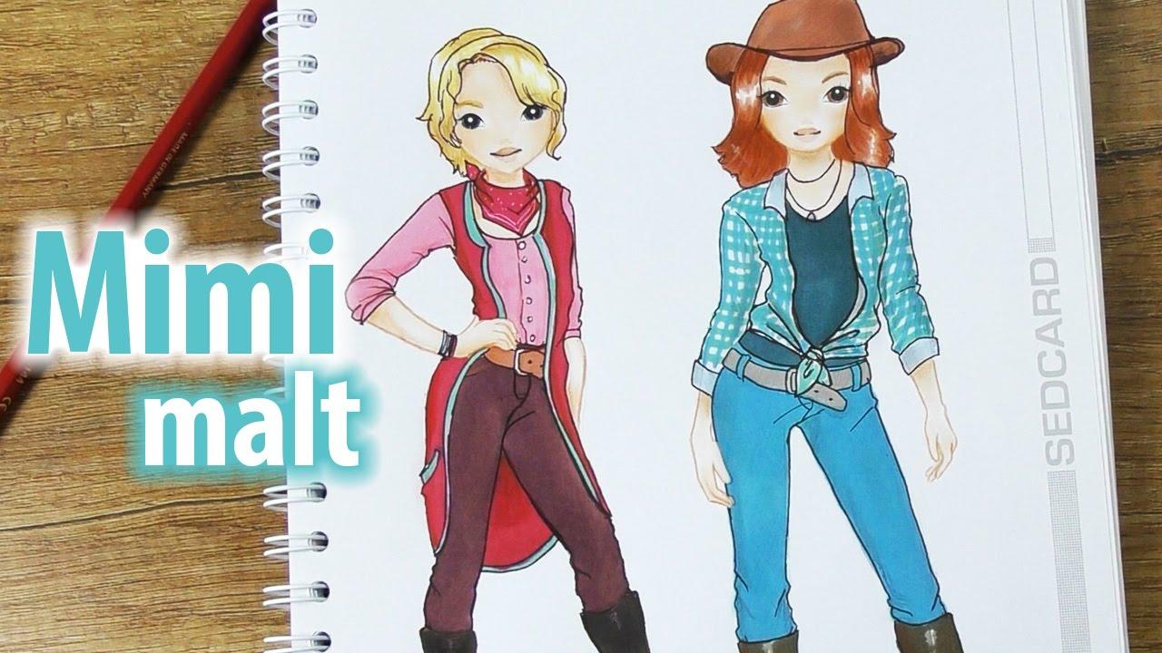 Bibi & Tina Deutsch im Topmodel Malbuch  Mimi malt die Filmheldinnen   Tohuwabohu Total