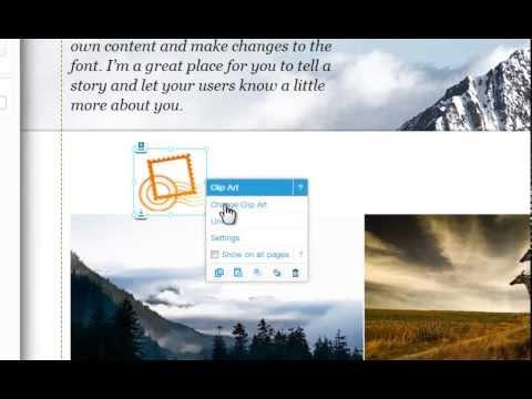 HTML Website Builder | Adding Clip Art In Wix.com