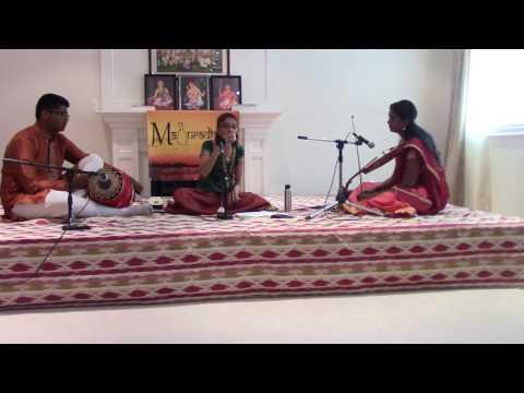 Maduradhvani Toronto 2016 series - Concert # 9 by Kum Krishna Smitha Prakash July 17, 2016