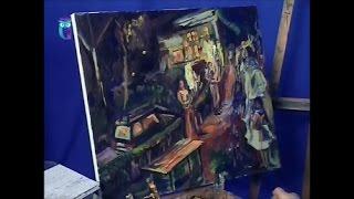 """Уроки рисования (№ 143). Рисуем картину """"Ночной пикник"""""""