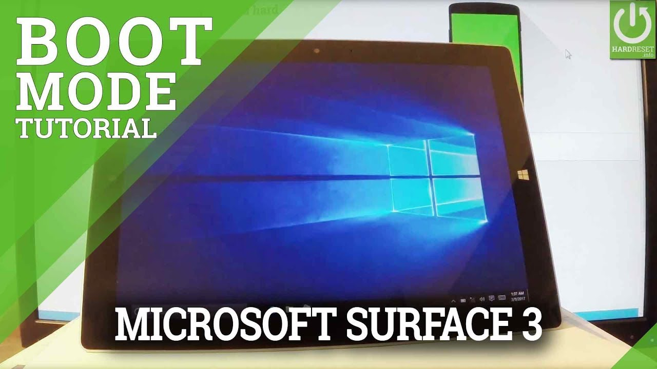 Boot Mode in MICROSOFT Surface 3 - Enter & Quit Boot Mode