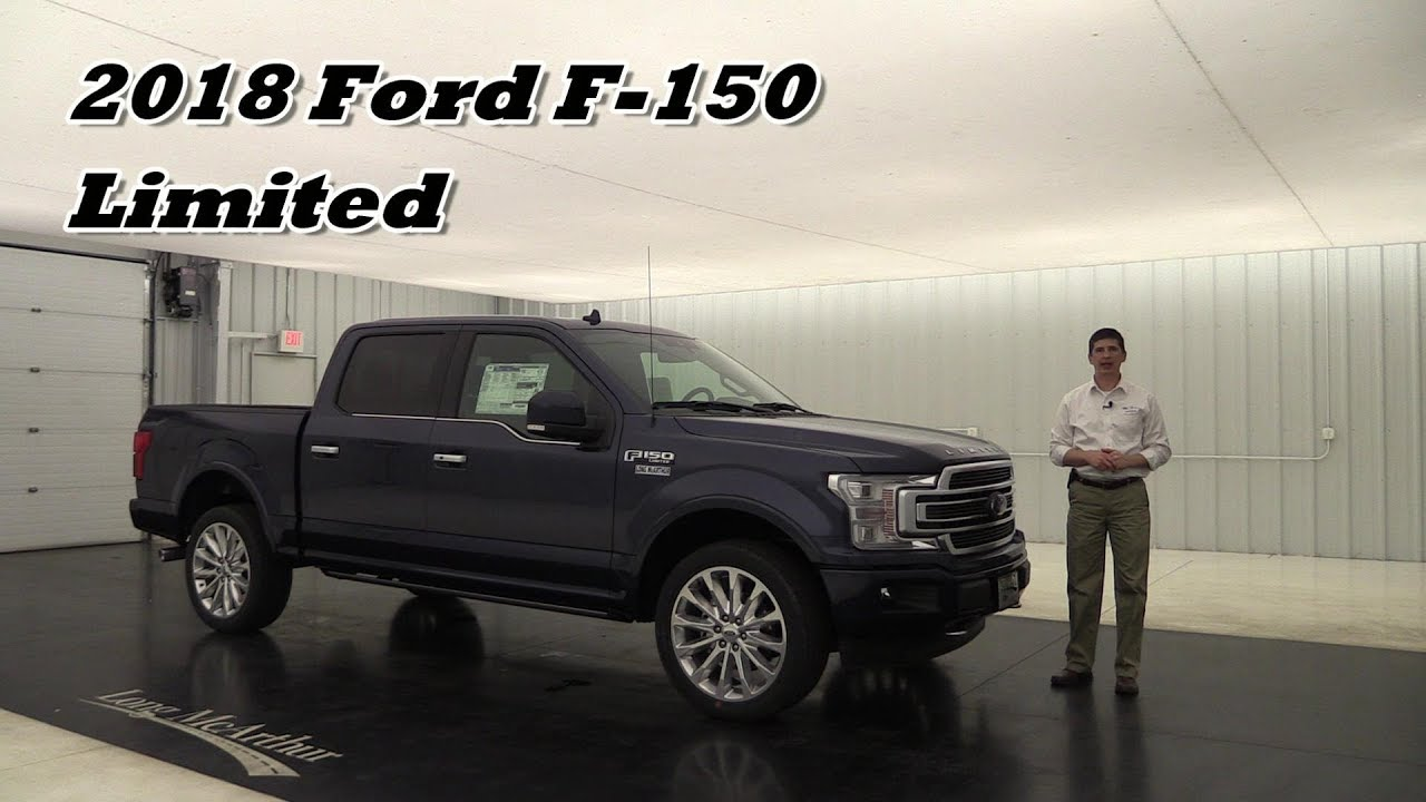 2018 ford f 150 limited overview standard optional equipment