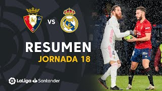 Resumen de CA Osasuna vs Real Madrid (0-0)