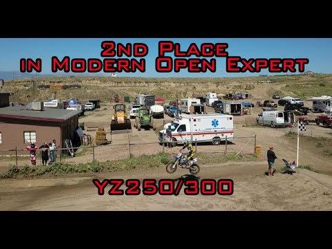 2nd Place in MOTO 1 Modern Open Expert RMVRC at Aztec Raceway