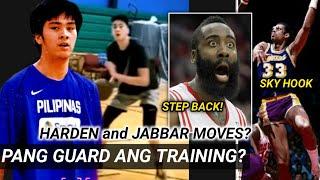 Pang GUARD ang training ni Kai?|James Harden at Abdul Jabbar ang mga moves na pinapractice ni Kai?