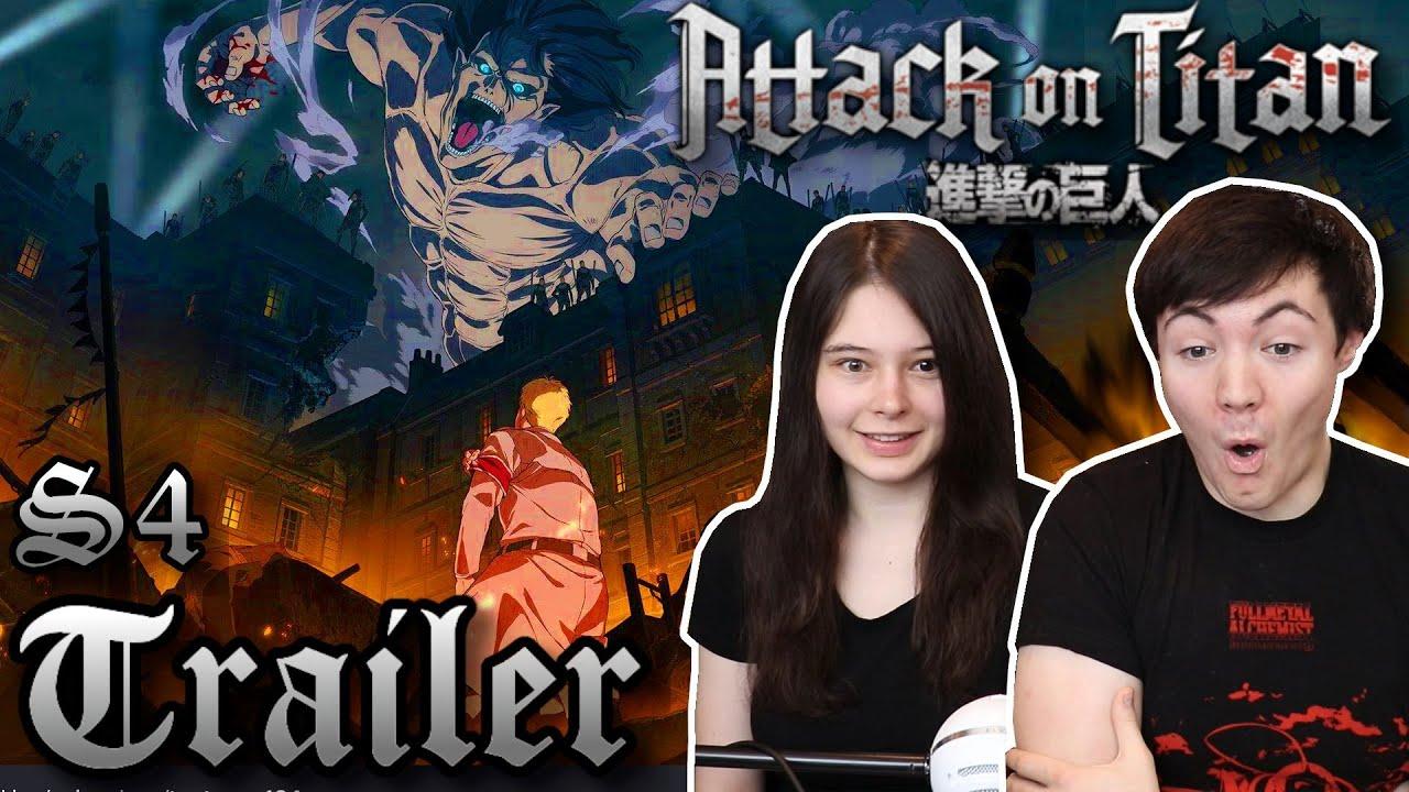 Attack on Titan S4 Trailer REACTION!!! 「進撃の巨人」The Final ...