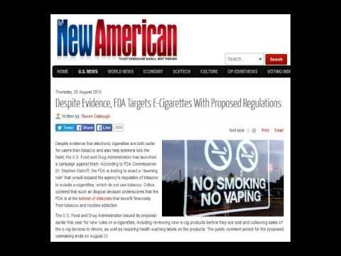Despite Evidence FDA Targets ECigarettes With Proposed