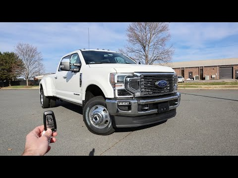 2021 Ford F350 Super Duty King Ranch: Start Up, Test Drive, Walkaround and Review