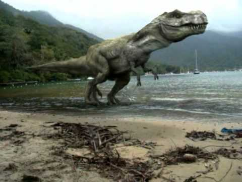 T Rex On The Beach.avi