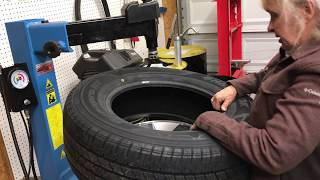 Mom Replaces Her Truck Tires!