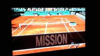 Smash Court Tennis Pro Tournament 2: Pro Tour With Different Created Player in RG Final