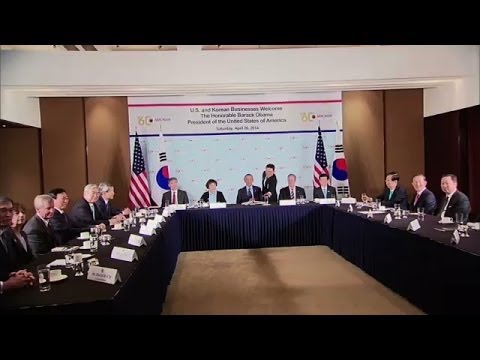 President Obama Speaks at a Business Roundtable