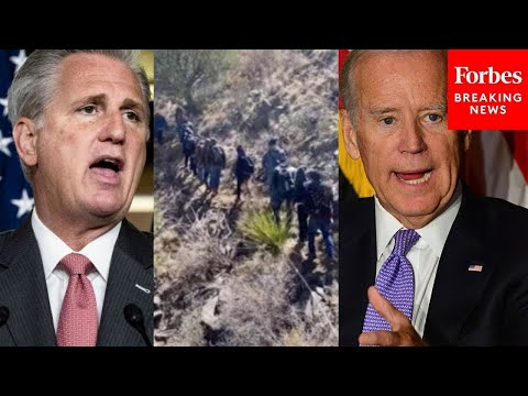 "JUST IN: Kevin McCarthy Assails Biden For ""Alarming"" Number of Border Crossings"