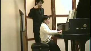 Lang Lang and George Li  (9 yr) with Sun Flowers