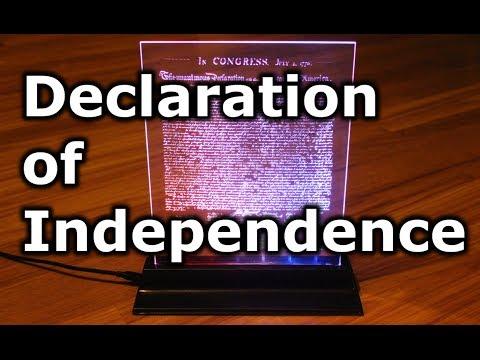 Laser Etched Edge Lit Declaration of Independence