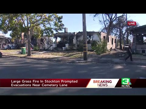 4 homes destroyed in Stockton neighborhood fire