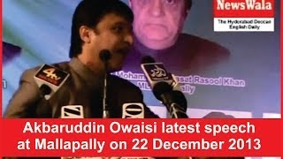 Akbaruddin Owaisi latest speech at Mallapally