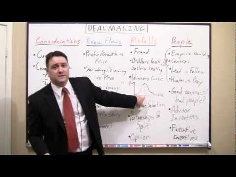 Sample of Keith White's Dealmaking presentation