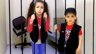 Vania and Masha play with Police profession