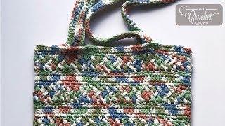 Crochet Bean Stitch Bag