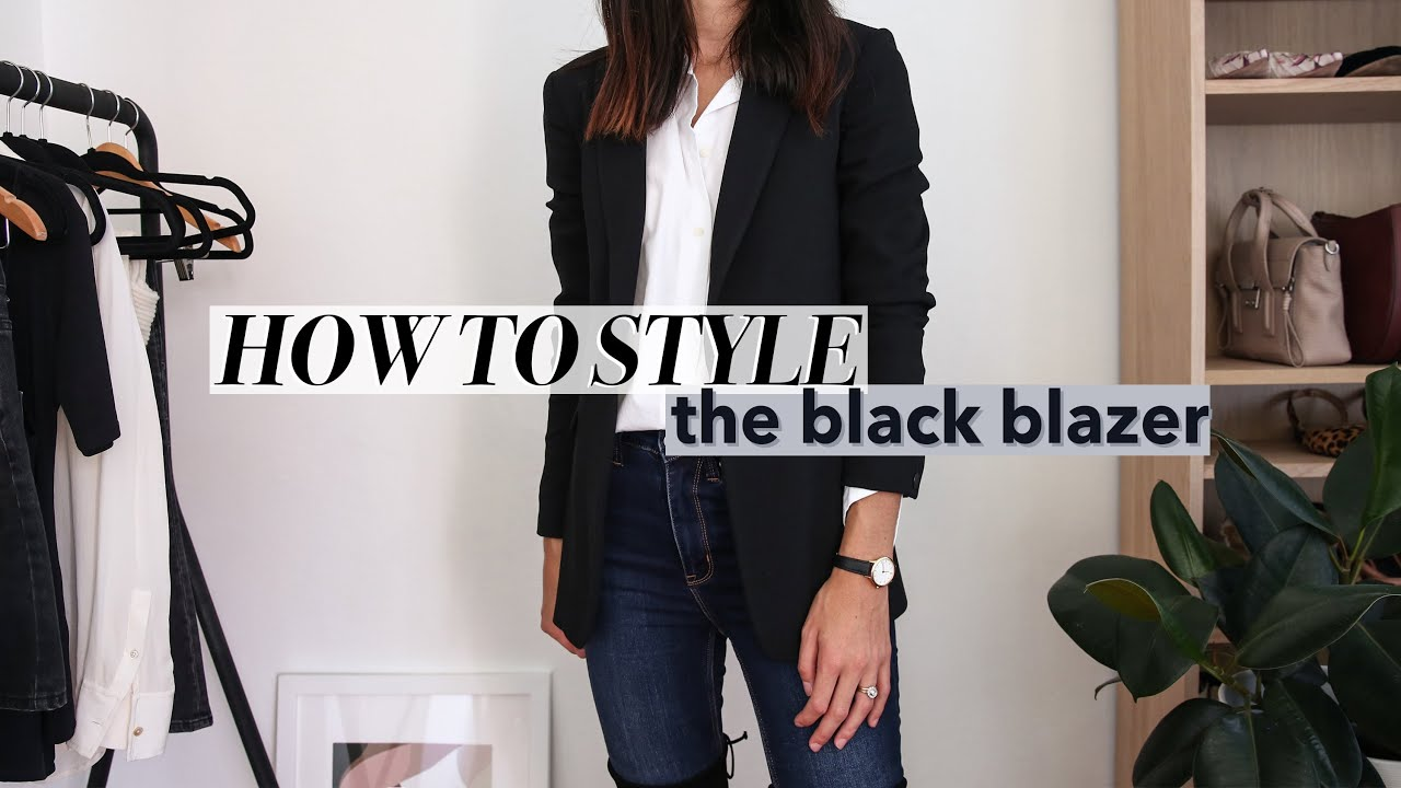 HOW TO STYLE A BLACK BLAZER - 20 Minimal Style Outfit Ideas | Mademoiselle