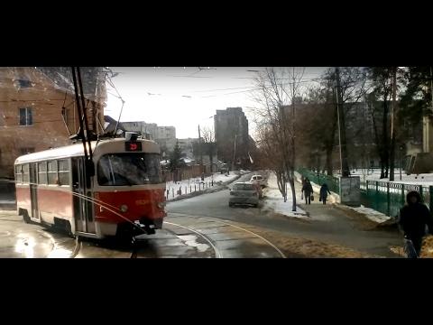 Киев трамвай 29 с метро Лесная до метро Бориспольская/ Kiev trams 29