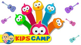 Dancing Ducks Finger Family Song and Nursery Rhymes by KidsCamp