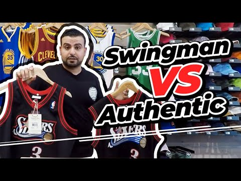 Mitchell & Ness Swingman VS Authentic NBA Jersey Comparison