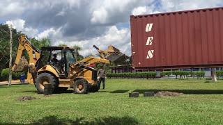Container de 40 pés manobra com carregadeira