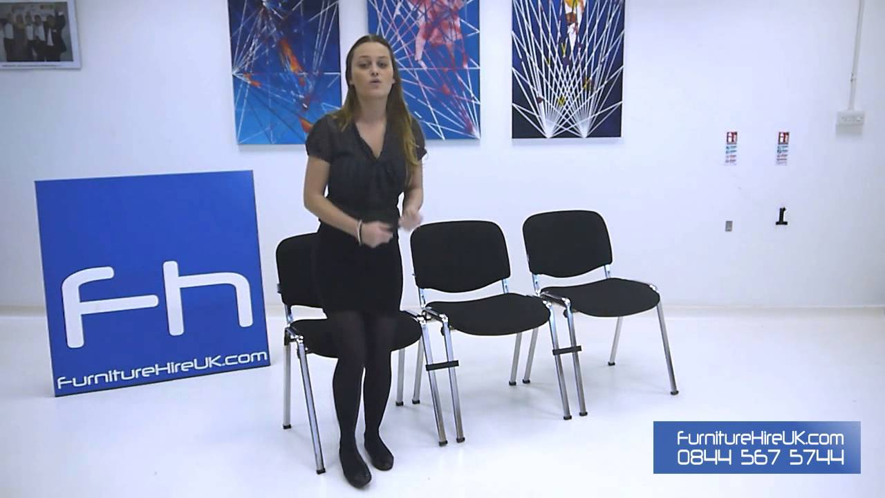 Black Stacking Chair Demo - Furniture Hire UK
