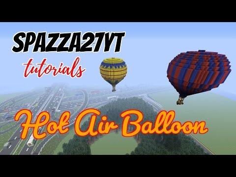 Hot Air Balloon Minecraft tutorial
