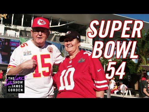 James Corden's Parents Crash Super Bowl LIV