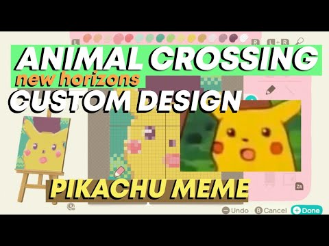Animal Crossing New Horizons Pikachu Meme Custom Design Good
