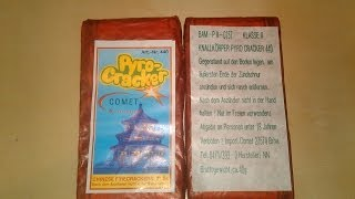 Comet Pyro Cracker - Pagode Label - Herst. NN