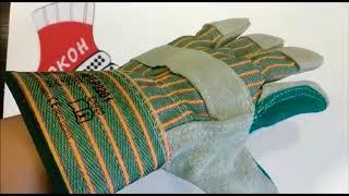 видео Перчатки спилковые, кожаные, комбинированные