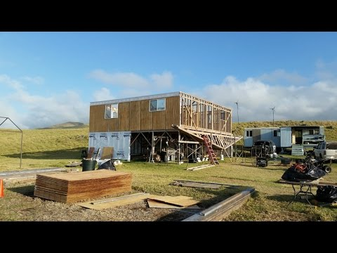 Standing up walls for new off grid home