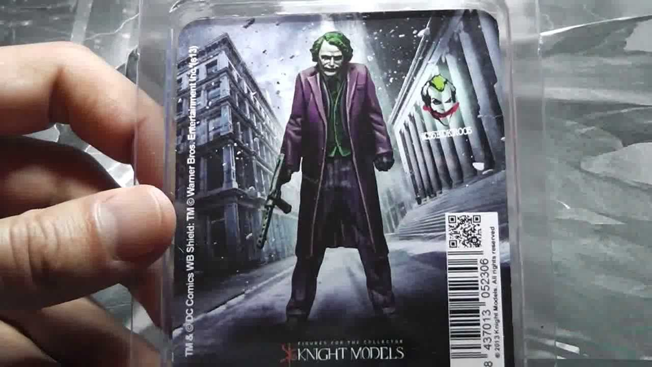 The Joker Heath Ledger Batman Miniature Game Unboxing YouTube