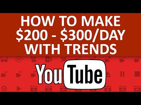 How To Make $200 – $300 Per Day On YouTube With Trending Stories – How To Make Money Online
