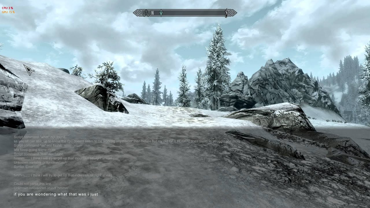 Could not parse this line skyrim