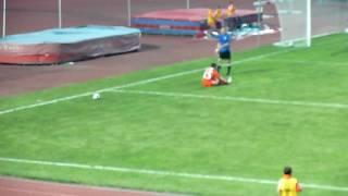 Момент из-за которого дали пенальти в ворота Жемчужины(http://fc-sochi.com Момент после которого была выдана жёлтая карточка игроку ФК