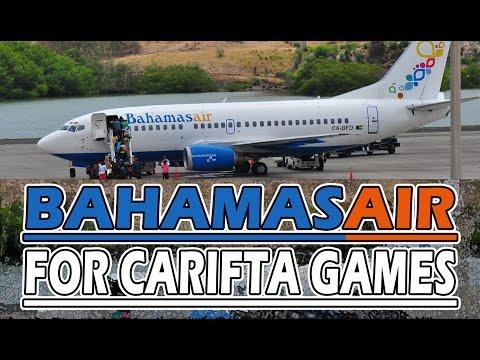 Bahamas Air 737-500 visits Grenada for 2016 Carifta Games
