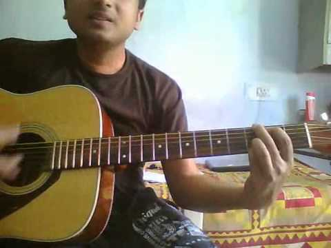 ab mujhe raat din(sonu nigam)-Nikhil-guitar cover for beginners(only use headphones)