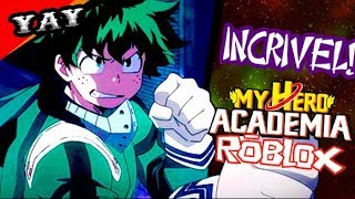 Awesome game in the Roblox of Boku No Hero (My Hero Academy)! Online Heroes!