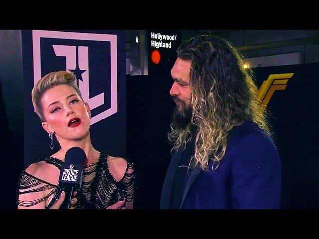 Amber Heard & Jason Momoa Justice League World Premiere