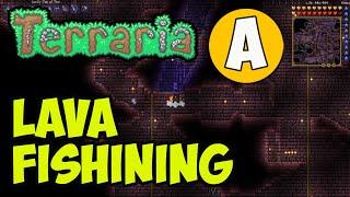 Terraria how to Ląva Fishining work (2021) (EASY)   Terraria 1.4.2 Lava Fishining GUIDE