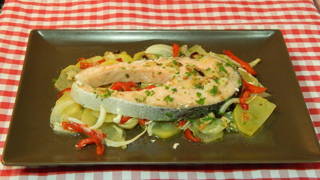 C mo hacer salm n al horno receta f cil youtube for Cocinar salmon