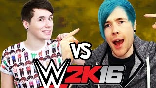 DanTDM vs Danisnotonfire WWE 2K16 - LADDER MATCH