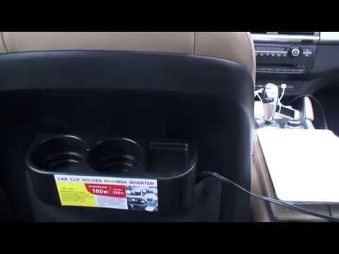 Car back seat Cup Holder Power Inverter