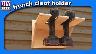 Simple Drill Holder - einfacher Halter für Akku Schrauber - French Cleat System