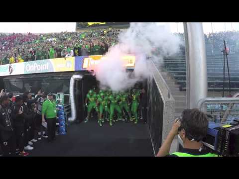 Oregon Ducks Football Entrance Introduction